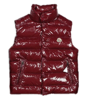 Men Moncler TIB down jacket red sleeveless