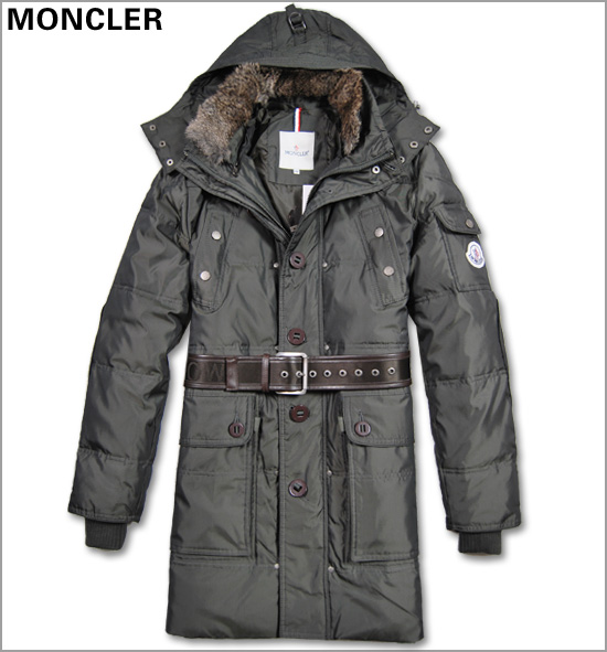 Men Moncler coats hooded down green down jackets