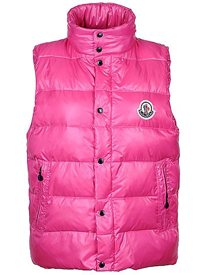 Mens Moncler Body Vest Sleeveless Pink Coat