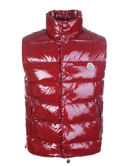 Mens Moncler Body Jacket Sleeveless Red Coat
