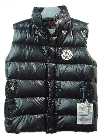 Mens Moncler Quilted Body Sleeveless Vest Black Coat