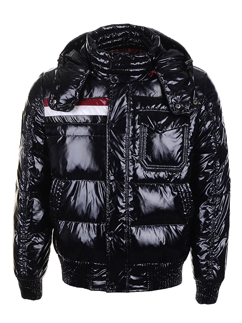 Moncler Men Jackets Shiny black smooth fabric