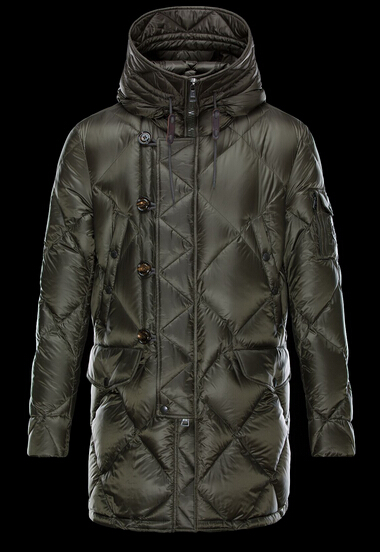 Coat Moncler EDWIN Down Jacket Men Hooded Green