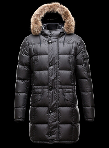 Coat Moncler Gabriel Men Down Jacket Long Fur Hood