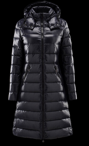 Moncler Moka Coat Long Hooded Down Coat Blue