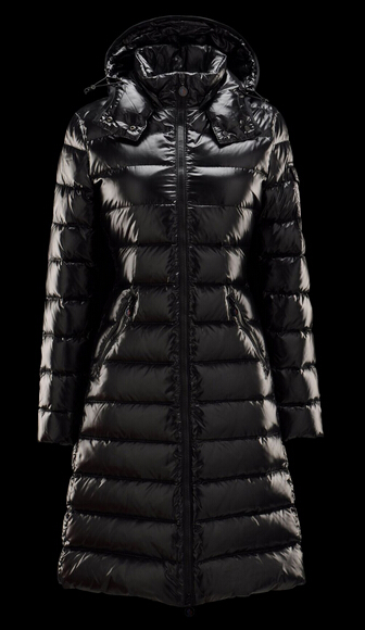 Moncler Moka Long Hooded Down Jacket Black
