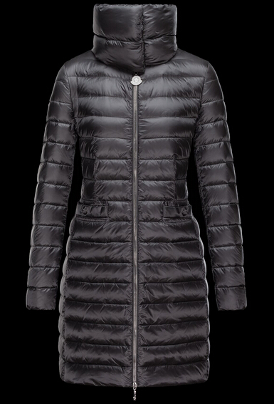 Moncler Vernois Women Long Jacket Black
