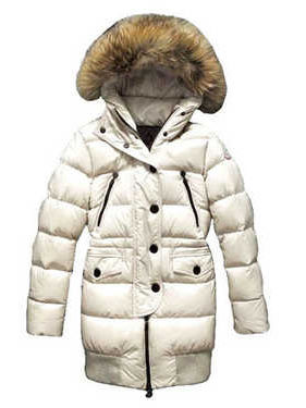 Coats Moncler Loire Doudounes Fur Women Hooded White