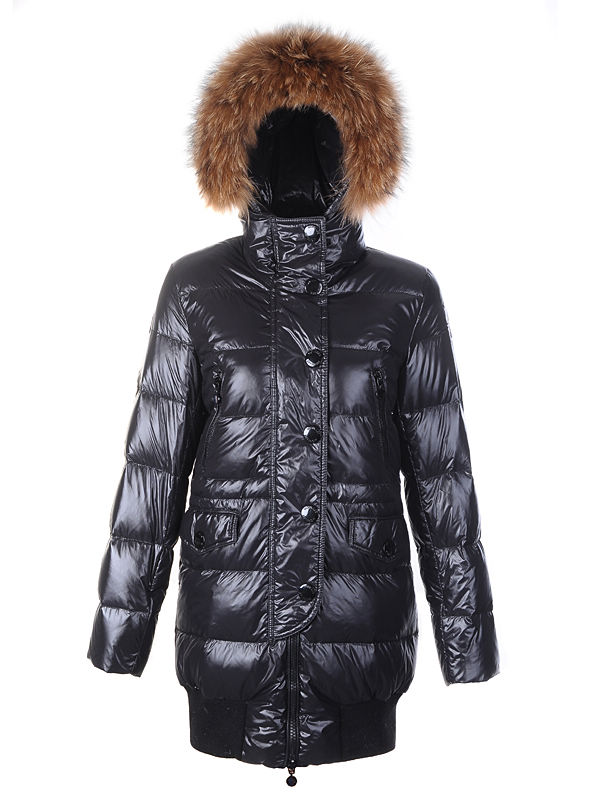 Coats Moncler Loire Doudounes Fur Women Hooded Black