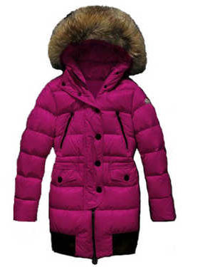 Coats Moncler Loire Doudounes Fur Women Hooded Pink