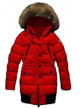Coats Moncler Loire Down Jackets Women Hooded Red