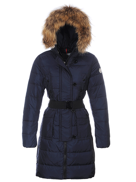 Moncler Coats Moncler Women's Fur Hat Blue
