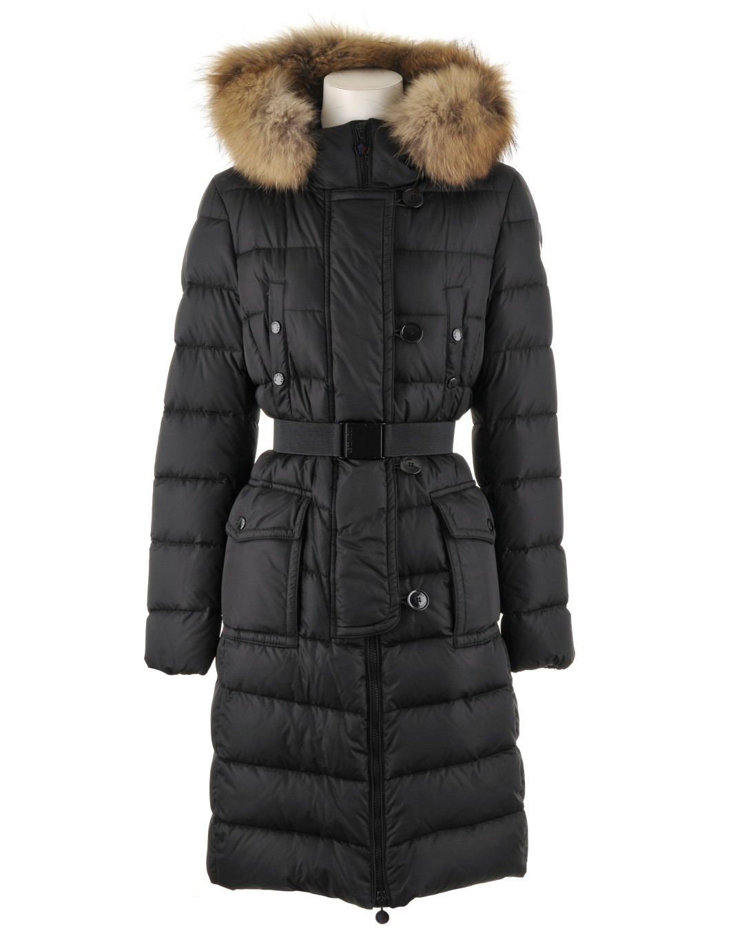 Moncler Coats Moncler women's fur hat black