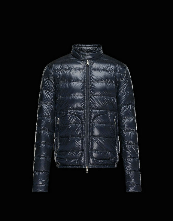 Men Moncler Down Jackets Acorus Dark Blue
