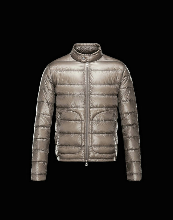 Men Moncler Down Jackets Acorus Grey