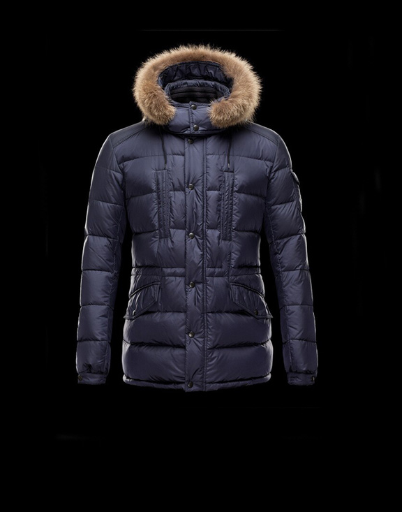 Men Moncler Down Jackets Cluny Blue