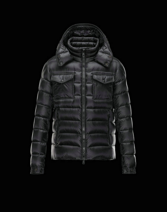 Men Moncler Down Jackets Edward Black
