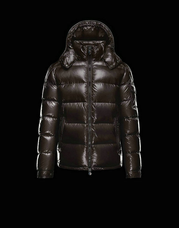 Men Moncler Down Jackets Maya Dark Brown