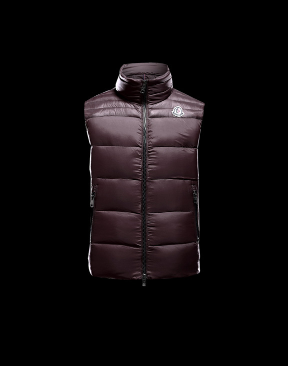 Men Moncler Vests Dupres Brown