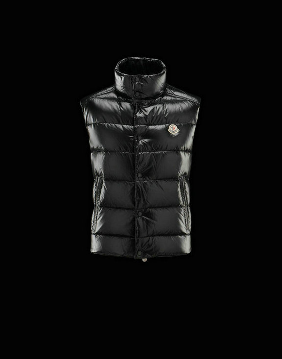 Men Moncler Vests Tib Black