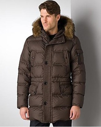 Moncler Affton Coat Men Coffee