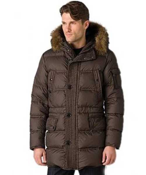 Moncler Affton Coat Mens Down Coffee