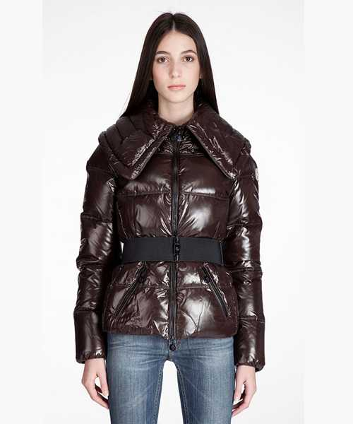 Moncler Aliso Designer Women Down Jackets With Belt Coffee
