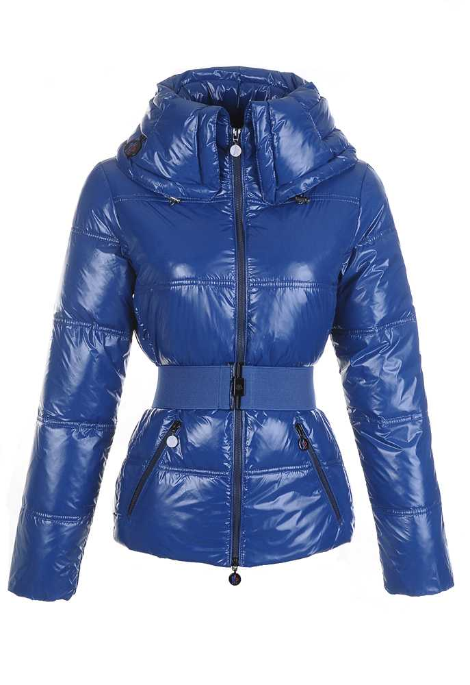 Moncler Aliso Designer Women Down Jackets With Belt Dark Blue