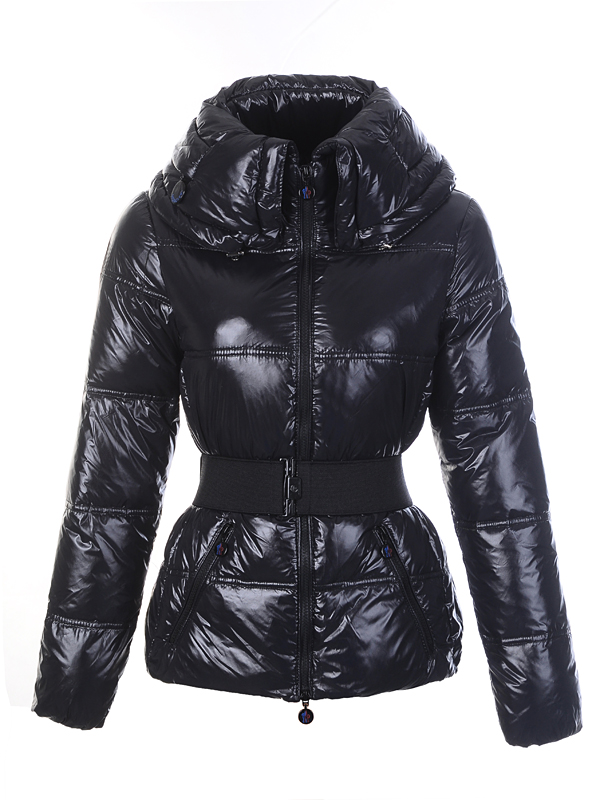 Moncler Aliso Designer Womens Down Jackets With Belt Black