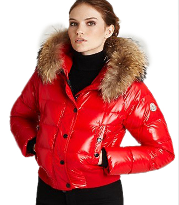 Moncler Alpin Women's Down Jacket Red Parka