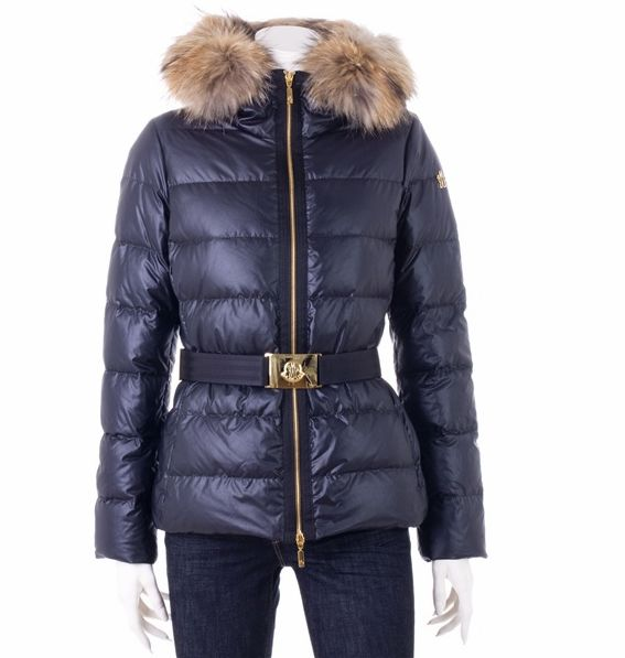 Moncler Angers SHORT VERS Blue coat belt