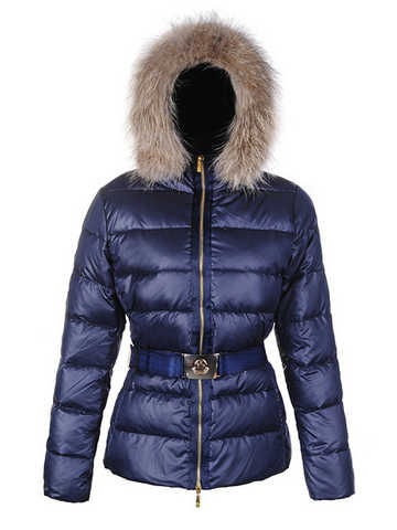Moncler Angers Womens Doudoune Fur Blue