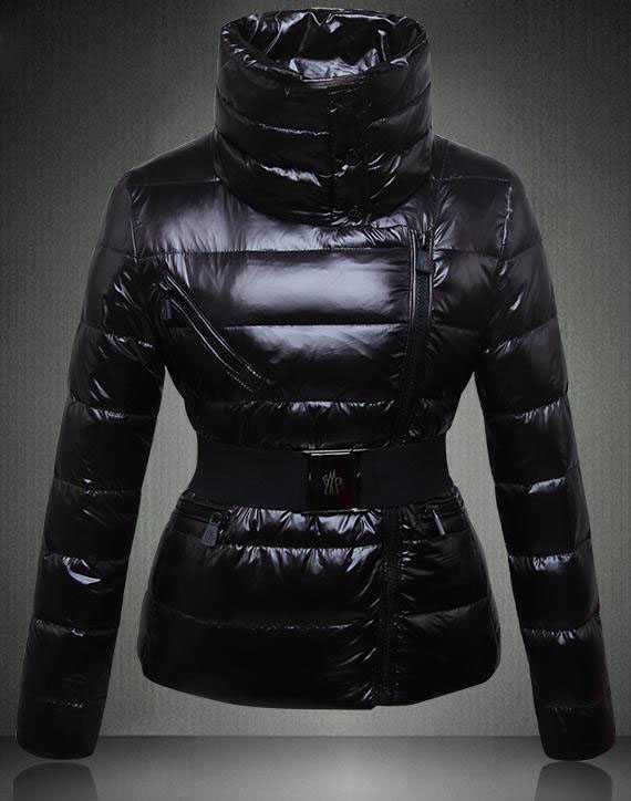 Moncler Angers Women Down Jackets Decorative Belt Black