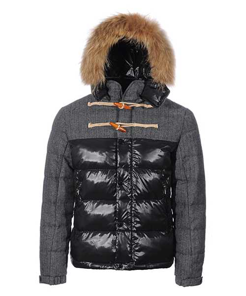 Moncler Anthime Jackets Mens Single Breasted Black