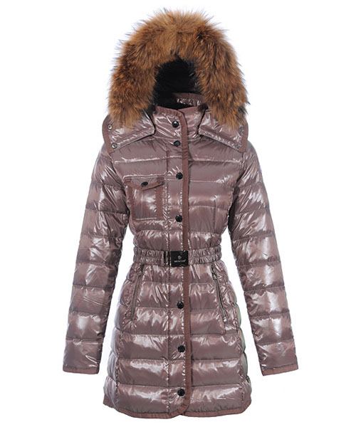Moncler Armoise Coat For Women Grey Long