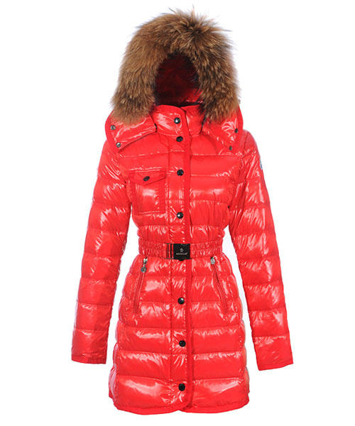 Moncler Armoise Coat For Women Red Long