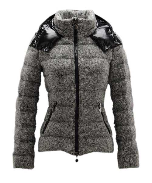 Moncler Astere Smart Casual Jackets Women Zipper Grey
