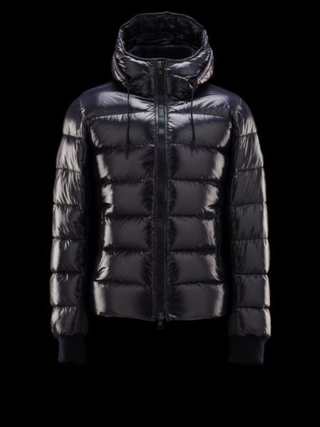 Moncler Aubert Down Jacket Hoodies Men Blue