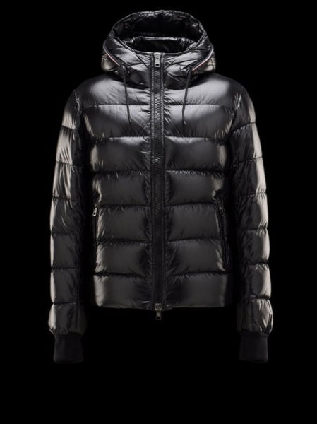Moncler Aubert Down Jacket Men Hoodies Black
