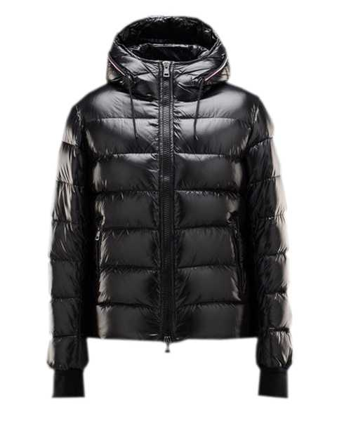 Moncler Aubert Euramerican Style Jackets Mens Zip Hooded Black