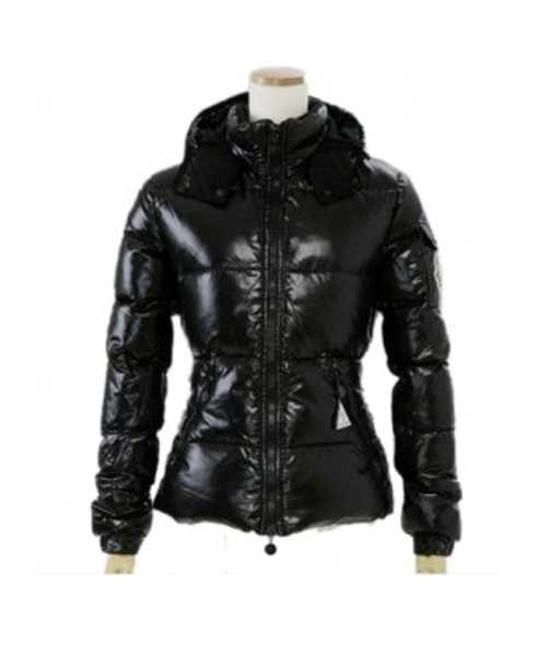Moncler Badia Very Shiny Women Down Jackets Black