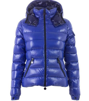 Moncler Bady Quilted Down Coat For Women Hooded Parka Blue