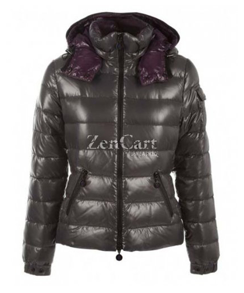 Moncler Bady Winter Women Down Jacket Zip Hooded Army Green