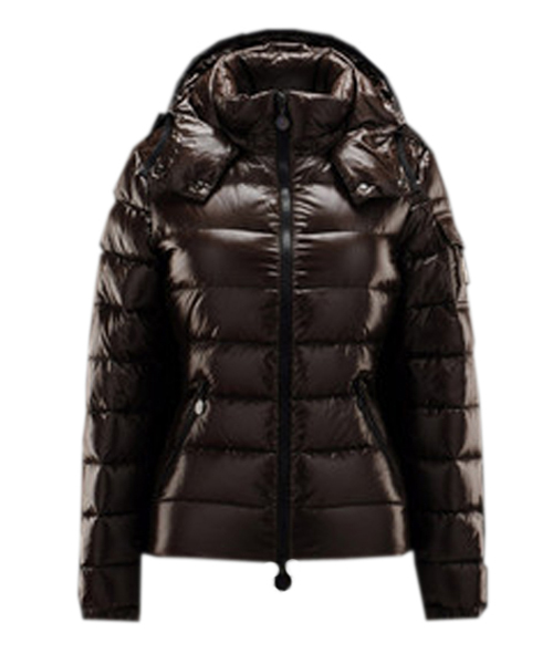 Moncler Bady Winter Women Down Jacket Zip Hooded Brown