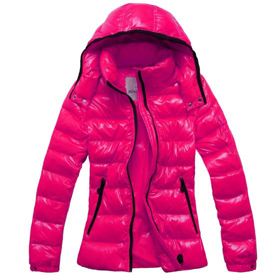 Moncler Bady Winter Women Down Jacket Zip Hooded Pink