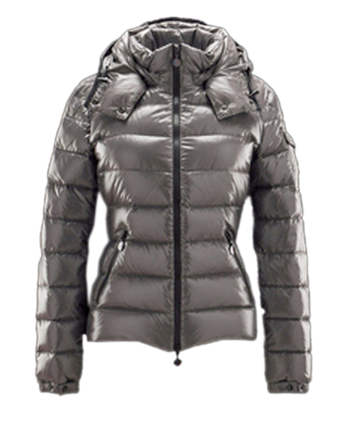 Moncler Bady Winter Women Down Jacket Zip Hooded Silver Gray