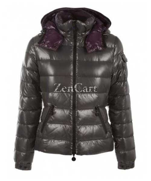 Moncler Bady Winter Women Down Jackets Zip Hooded Army Green