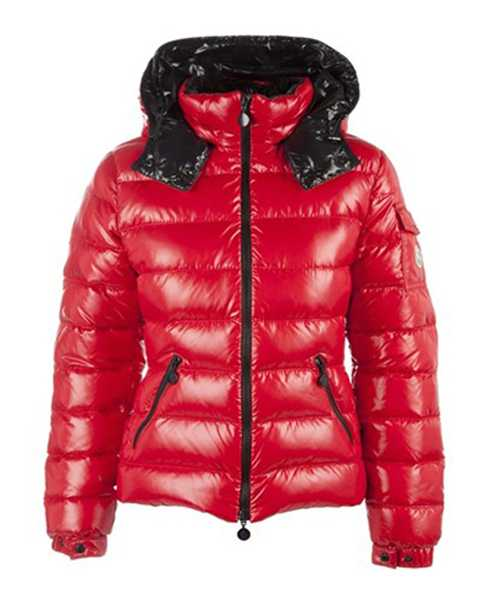Moncler Bady Winter Women Down Jackets Zip Hooded Army Red