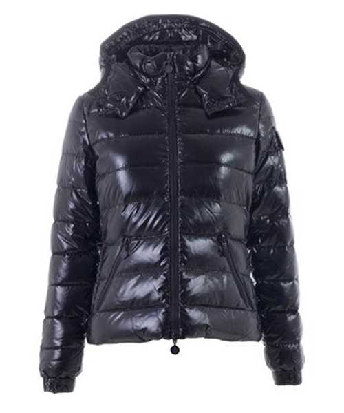 Moncler Bady Winter Women Down Jackets Zip Hooded Black