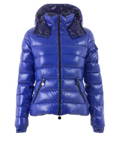 Moncler Bady Winter Women Down Jackets Zip Hooded Blue